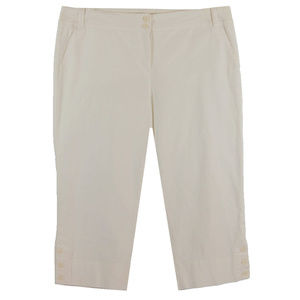 24w Beige Tummy Control Classic Fit Capri Pants